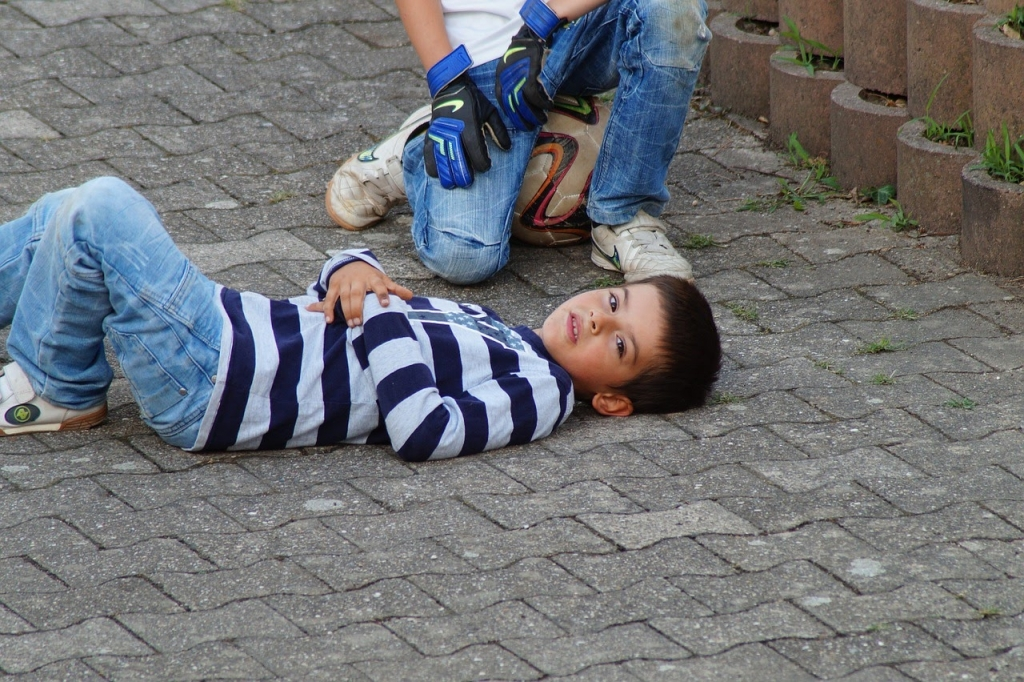 boy on the ground