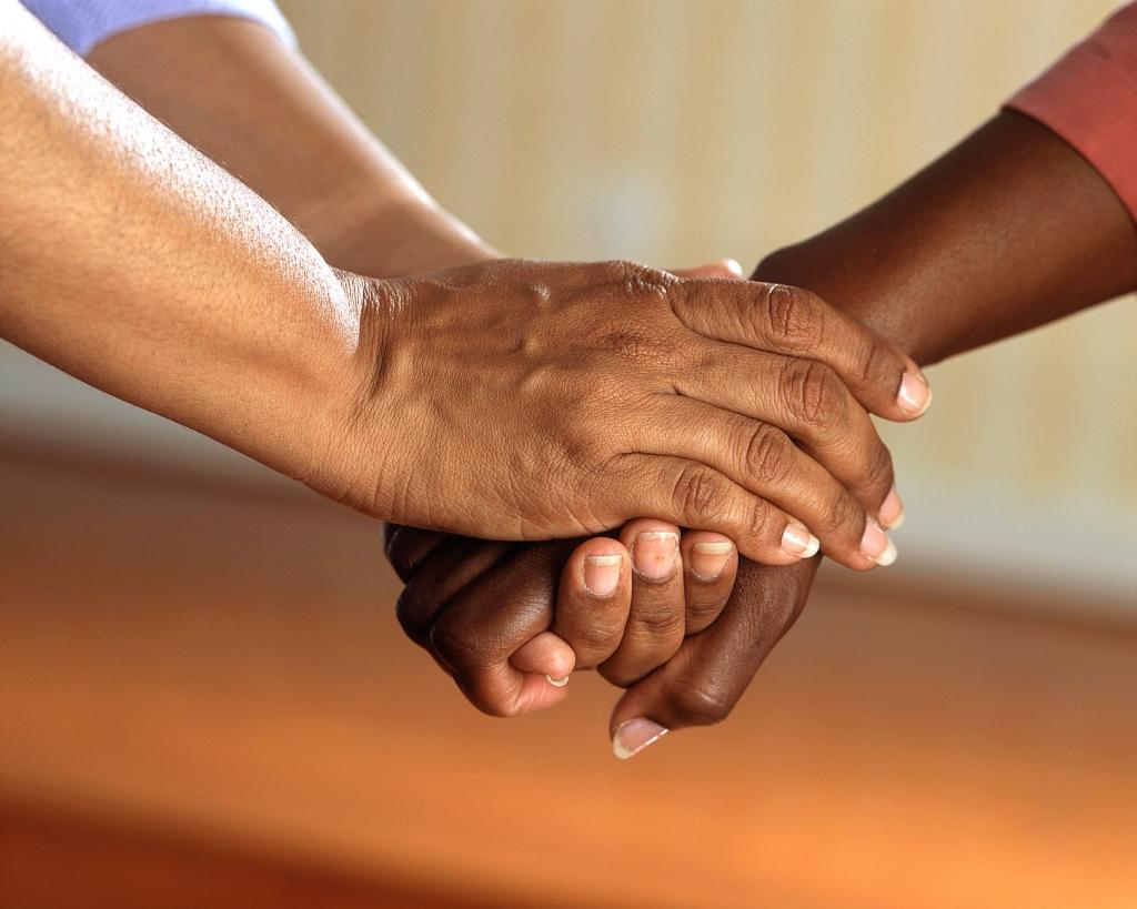 clasped hands comfort hands people 45842