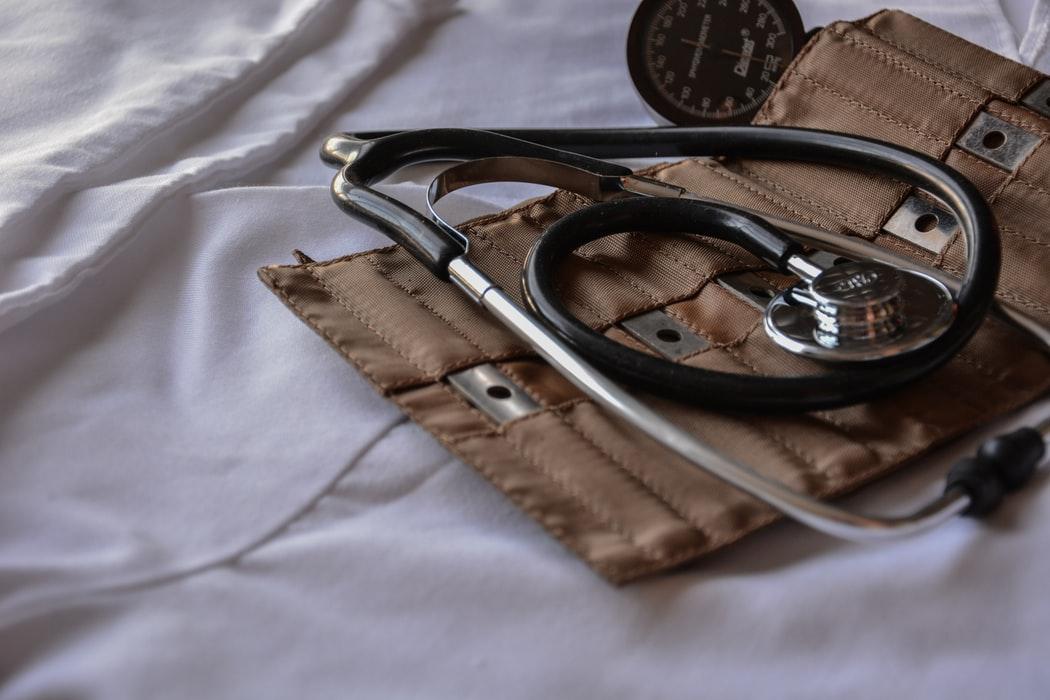 upclose shot of stethoscope